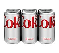 Diet Coke Soda Cans - 6-7.5 Fl. Oz.