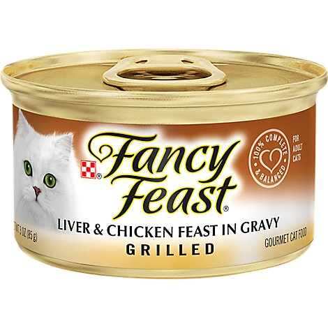 Fancy Feast Cat Food Wet Grilled Liver & Chicken - 3 Oz