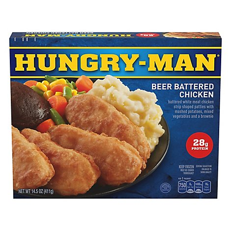 HUNGRY-MAN Frozen Meal Pub Favorites Beer Battered Chicken - 14.5 Oz
