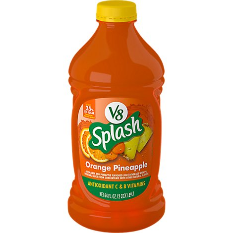 V8 Splash Orange Pineapple - 64 Fl. Oz.