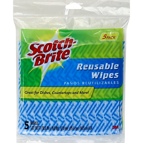 Scotch-Brite Wipes Reusable - 5 Count