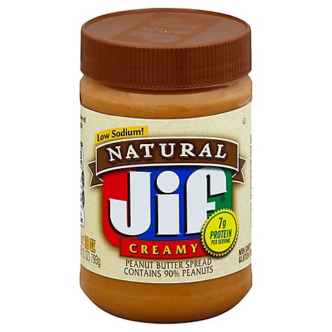 Jif Natural Peanut Butter Creamy - 28 Oz