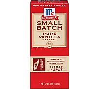 McCormick Small Batch Extract Pure Vanilla - 2 Fl. Oz.