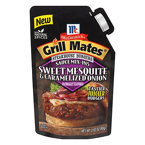 McCormick Grill Mates Sauce Mix Ins Sweet Mesquite & Caramelized Onions - 2.83 Oz