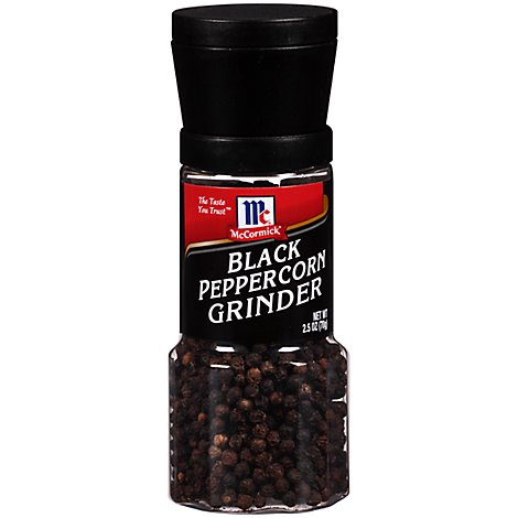 McCormick Grinder Peppercorns Black - 2.5 Oz