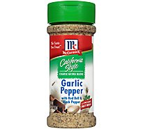 McCormick Garlic Pepper Coarse Grind Blend California Style - 2.75 Oz