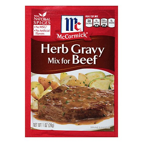 McCormick Gravy Mix For Beef Herb - 1 Oz