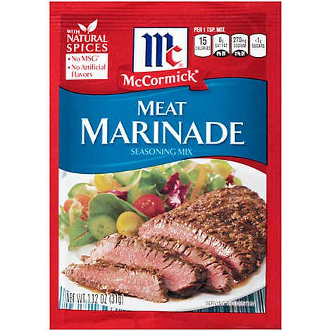 McCormick Seasoning Mix Meat Marinade - 1.12 Oz