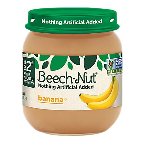 Beech Nut Baby Food Stage 2 Noting Artificial Added Banana - 4 Oz