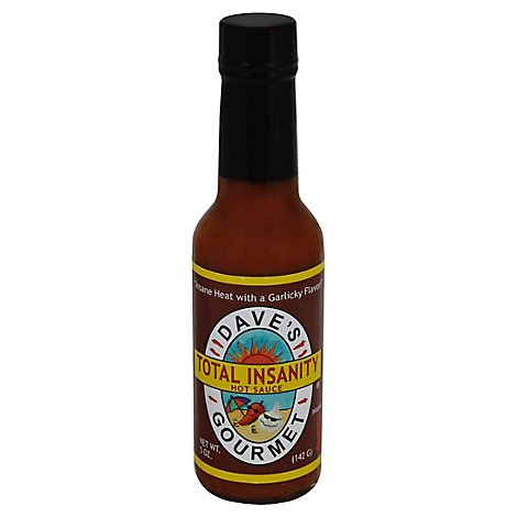 Daves Gourmet Sauce Hot Total Insanity - 5 Oz