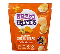 Brazi Bites Brazilian Cheese Bread Cheddar & Parmesan 18 Count - 11.5 Oz