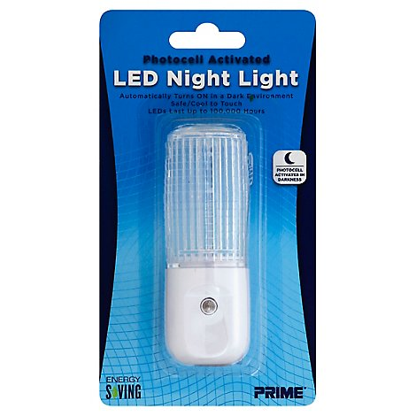 Prime Night Light LED Photocell Activated - Each