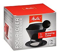 Melitta Coffee Brewer Pour-Over Brewing Cone 1 Cup - Each