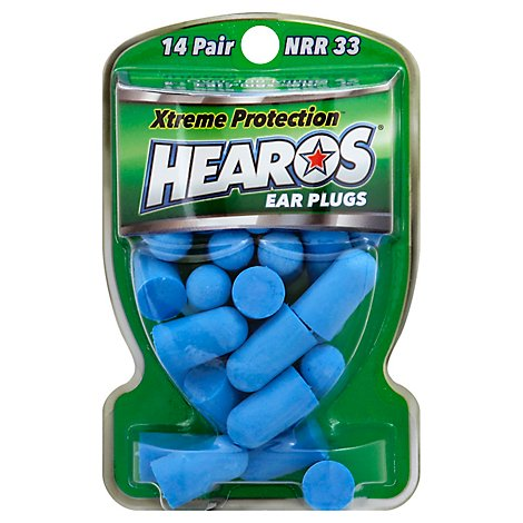 HEAROS Ear Plugs Xtreme Protection - 14 Count