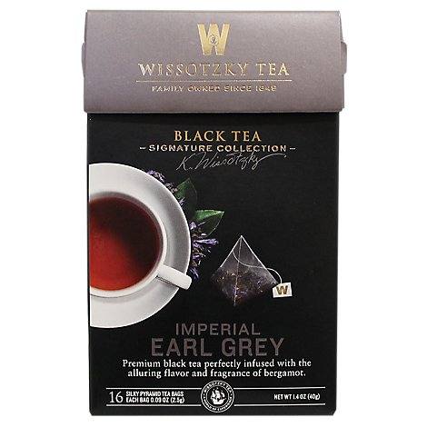 Wissotzky Tea Signature Collection Black Tea Imperial Earl Grey - 16 Count