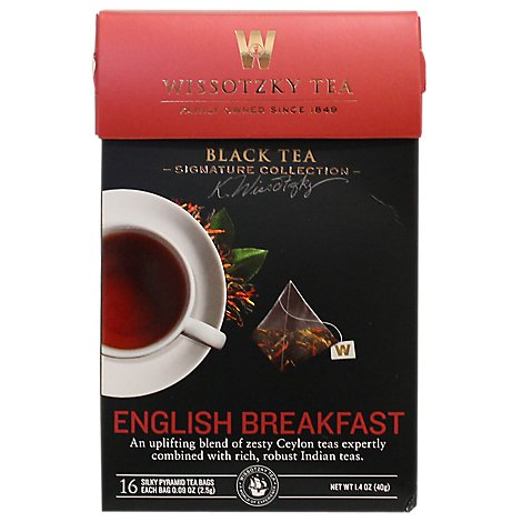 Wissotzky Tea Signature Collection Black Tea English Breakfast - 16 Count