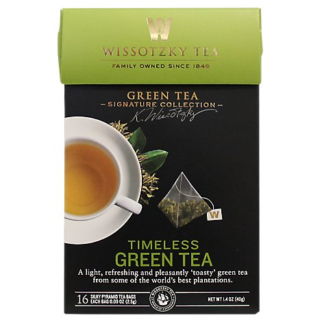 Wissotzky Tea Signature Collection Green Tea Timeless Green Tea - 16 Count