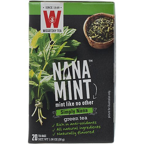 Wissotzky Tea Signature Collection Green Tea Timeless Green Tea With Nana Mint - 16 Count