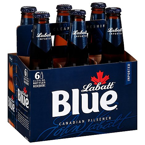 Labatt Blue Ale Beer Bottles - 6-12 Fl. Oz.