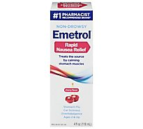Emetrol For Nausea & Upset Stomach Cherry Flavor - 4 Fl. Oz.