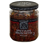 Sable & Rosenfeld Bruschetta Olive Spicy - 16 Oz