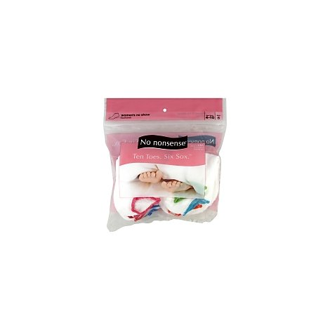 Nn Sock Wmn No Show Bag - 6 Count