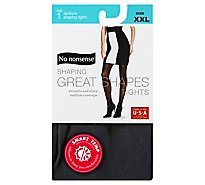 No Nonsense Gs Opaque Tights Black Xxl - Each