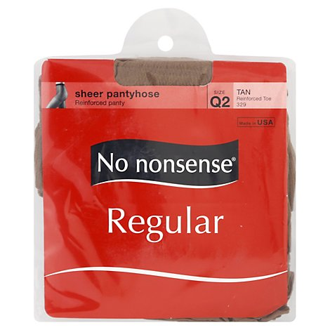 No Nonsense Hsry Regular Rtoe Q Tan - Each