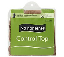 No Nonsense Hsry Cntrl Top Rtoe Q Tan - Each