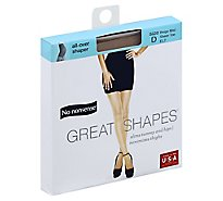 No nonsense Pantyhose All-Over Shaper Great Shapes Sheer Toe Beige Mist Size D - Each