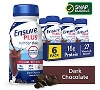 Ensure Plus Nutrition Shake Ready-to-Drink - Dark Chocolate - 6 - 8 fl oz