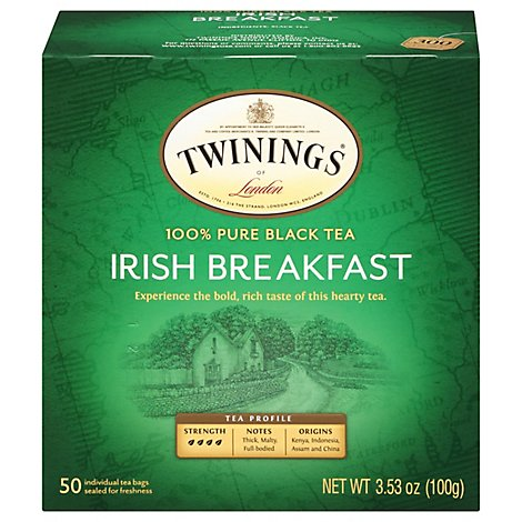 Twinings of London Black Tea Irish Breakfast - 50 Count