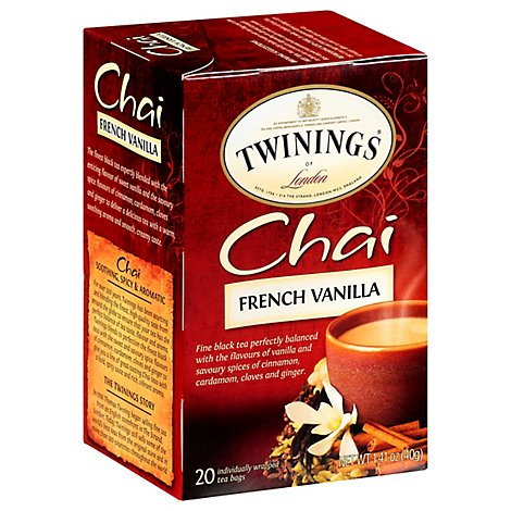 Twinings of London Black Tea Chai French Vanilla - 20 Count