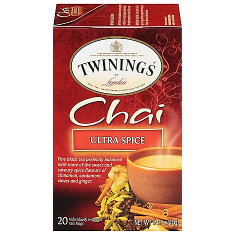 Twinings of London Black Tea Chai Ultra Spice - 20 Count