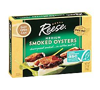 Reese Oysters Smoked Medium - 3.70 Oz