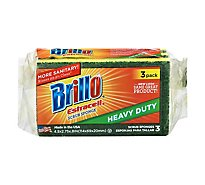 Brillo Estracell Sponges Scrub Heavy Duty - 3 Count