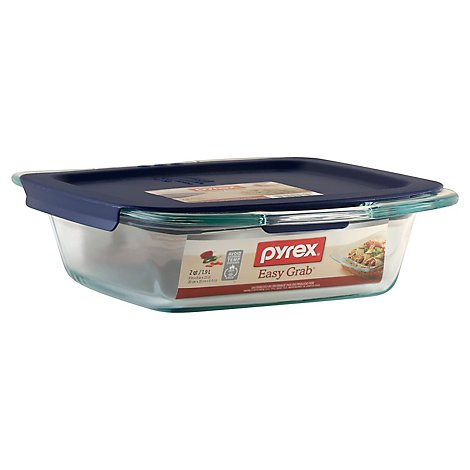 Pyrex Easy Grab Square With Lid 8in - Each