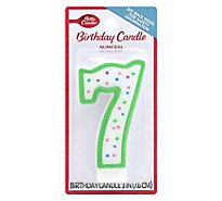 Betty Crocker Candles Birthday Numeral 7 - 1 Count