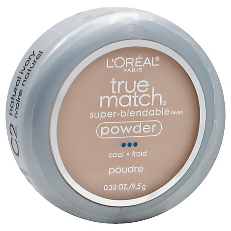 LOreal True Match Powder Super-Blendable Cool Natural Ivory C2 - 0.33 Oz