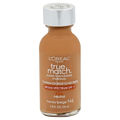 LOreal True Match Make Up Super-Blendable Neutral Sunscreen SPF17 - 1 Fl. Oz.