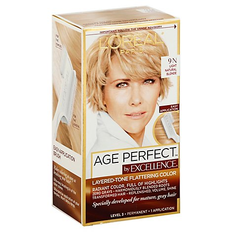 LOreal Excellence Age Perfect Hair Color Light Natural Blonde 9N - Each