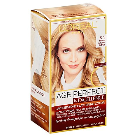 Excellence Age Perfect Hair Color Medium Natural Blonde 8n - Each