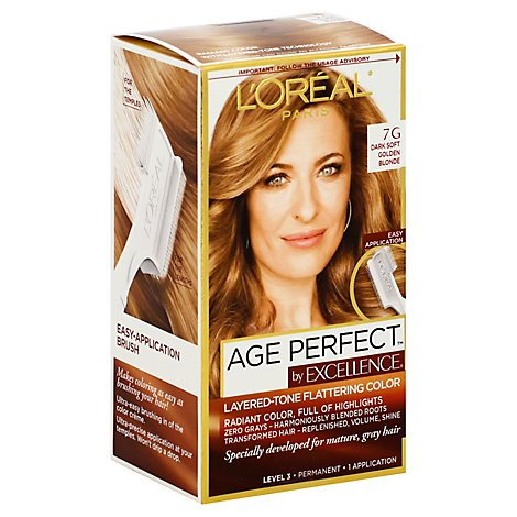 LOreal Excellence Age Perfect Hair Color Dark Soft Golden Blonde 7G - Each