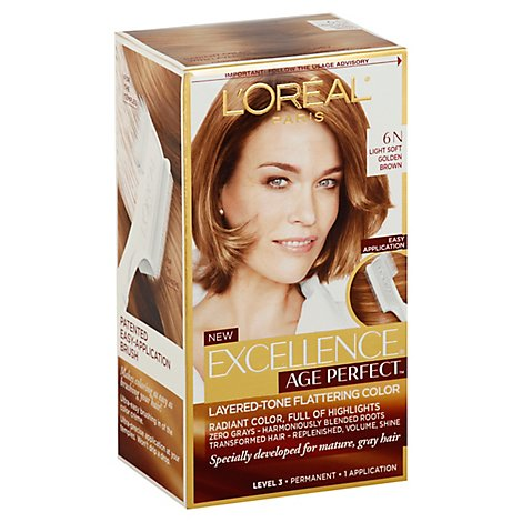 Loreal Excellence Age Perfect Soft Gold Brwn 6n - Each