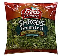 Fresh Express Shreds Green Leaf - 4.5 Oz