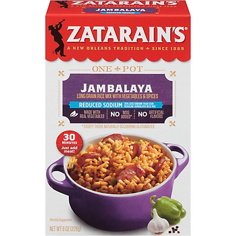 Zatarains Reduced Sodium Jambalaya - 8 Oz