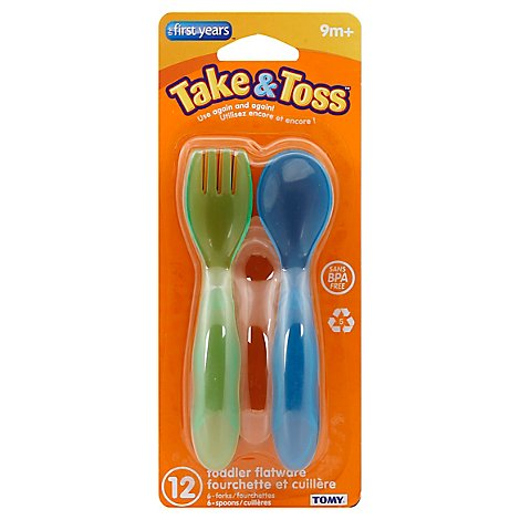 First Years Toodler Flatware Take Toss - 12 Count