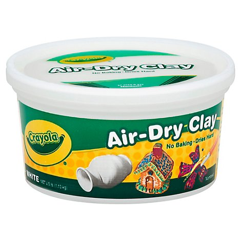 Crayola Clay Air Dry Bucket White - 2.5 Lb