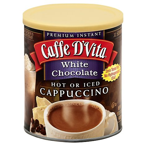 Caffe D Vita Cappuccino Hot or Iced White Chocolate - 16 Oz