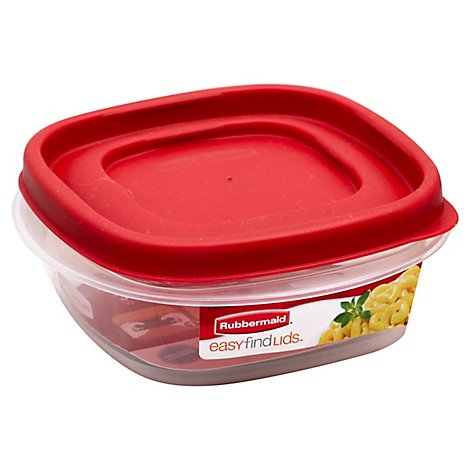 Rubbermaid Easy Find Lid Squr 1.25 Cup - Each